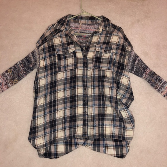 Free People Tops - Free people plaid shirt